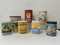 (7) ADVERTISING CANISTERS