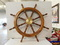 WOODEN HAND CRAFTED SHIPS STEERING WHEEL