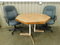 KITCHEN TABLE WITH (2) WHEELED OFFICE CHAIRS