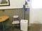 HAIER DEHUMIDIFIER, THREE LAMP STAND AND FOLDING CHAIR