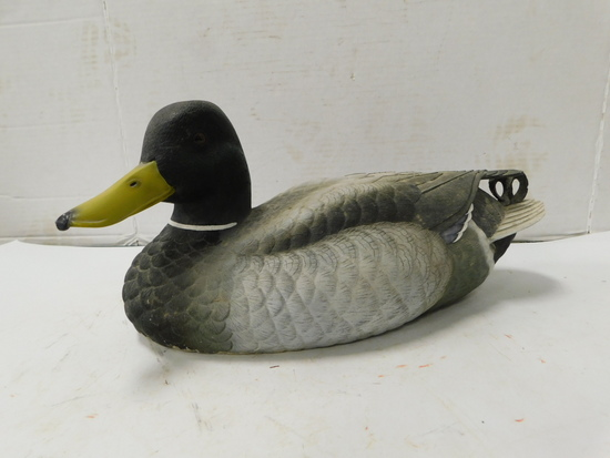 WOOD CARVED MALLARD DUCK