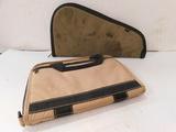 (2) HAND GUN CLOTH CASES