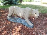CEMENT MOUNTAIN LION STATUE