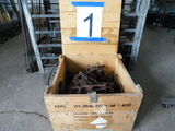 BULK LOT OF MISC FOOT/ LEG - HOLD TRAPS IN WOODEN EXPLOSIVE BOX