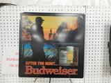 LIGHTED BUWEISER WALL SIGN; THE HUNTER