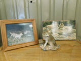 LOT OF WOLF STATUE, WOLF PHOTO AND PICTURE