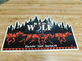RED WOLF LAGER TIN SIGN