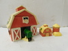 PORCELAIN JOHN DEERE BARN SALT PEPPER SHAKER WITH COOKIE BARN