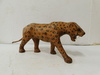 LEATHER LEOPARD STATUE