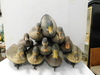 (10) ASSORTED MALLARD DUCK DECOYS W/ MESH BAG & WEIGHTS