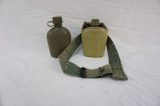 (2) PLASTIC MILITARY WATER CANTEENS