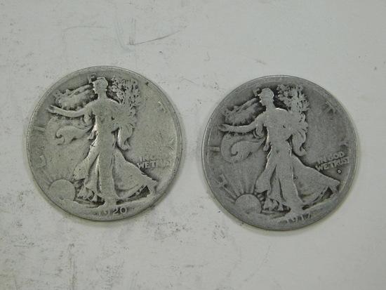 1917 & 1920 LIBERTY HALF DOLLAR