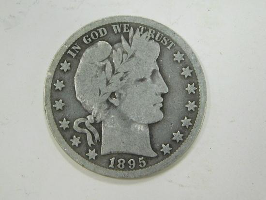 1895D BARBER HALF DOLLAR