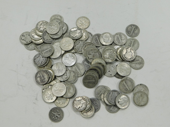 $11 FACE VALUE SILVER DIMES