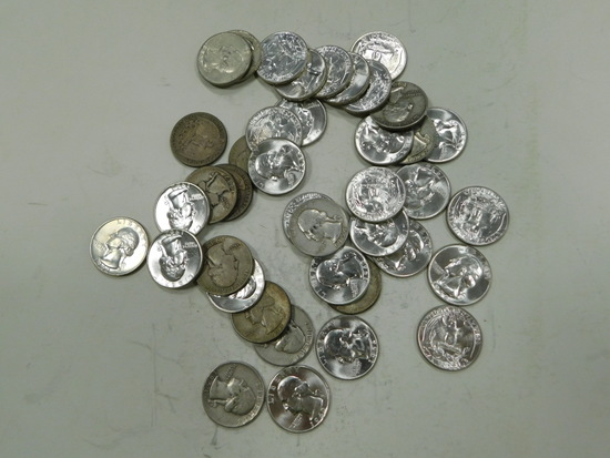 $10 FACE VALUE SILVER QUARTERS