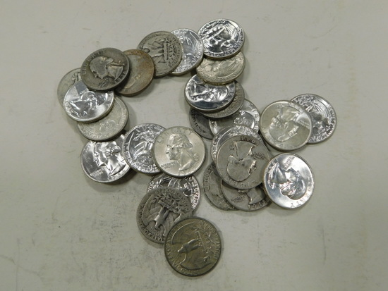 $7 FACE VALUE SILVER QUARTERS