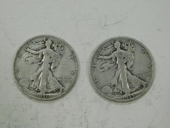 1935S & 1936S LIBERTY HALF DOLLARS
