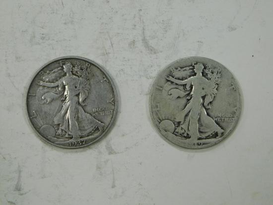 1919S & 1937D LIBERTY HALF DOLLARS