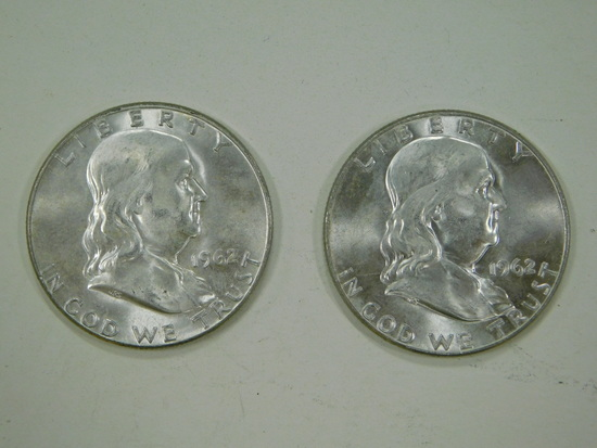 1962 FRANKLIN HALF DOLLARS