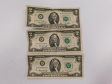 (3) 1976 SERIES $2 BILLS DALLAS-CHICAGO-RICHMOND