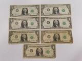 (6) 1963 SERIES & (1) 1963A SERIES $1 BILLS  DALLAS - CHICAGO