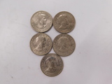 $5.00 FACE VALUE SUSAN B ANTHONY DOLLAR COINS