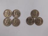 (4) 1974; (3) 1776/1976 KENNEDY HALF DOLLARS
