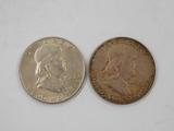 (2) 1948 FRANKLIN HALF DOLLARS