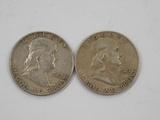 (2) 1949 FRANKLIN HALF DOLLARS