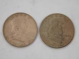 (2) 1950 FRANKLIN HALF DOLLARS