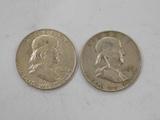 1959 & 1963 FRANKLIN HALF DOLLARS