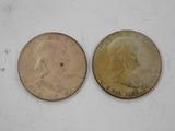 (2) 1953 FRANKLIN HALF DOLLARS