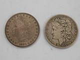 1880 & 1881 MORGAN DOLLARS