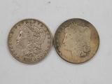 1887 & 1897 MORGAN DOLLARS