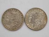 1887 & 1889 MORGAN DOLLARS