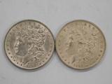 (2) 1889 MORGAN DOLLARS