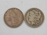 (2) 1891 MORGAN DOLLARS