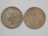 (2) 1925 PEACE DOLLARS