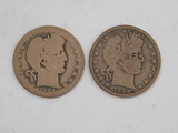 (2) 1894 BARBER / LIBERTYHEAD HALF DOLLAR