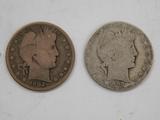 (2) 1902 BARBER / LIBERTYHEAD HALF DOLLAR