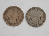 (2) 1904 BARBER / LIBERTYHEAD HALF DOLLAR