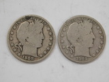 1908 & 1909 BARBER / LIBERTYHEAD HALF DOLLARS