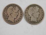 1911 & 1912 BARBER /  LIBERTYHEAD HALF DOLLAR