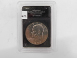 1977 AUTHENTICATED BRILLIANT UNCIRCULATED IKE DOLLAR