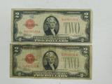 1928 C&D $2 RED SEAL BILLS