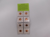 (8) 2009 LINCOLN CENT SET