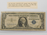 OLD BLUE SEAL SILVER CERTIFICATE