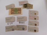 (10) ASSORTED FOREIGN COINS / PAPER MONEY