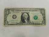 BINARY SERIAL NUMBER $1 FEDERAL RESERVE NOTE