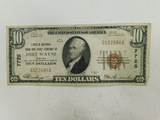 1929 FORT WAYNE INDIANA $10 NATIONAL NOTE